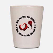 The Hearing Heart with No More Silence Shot Glass