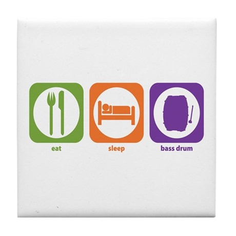 Eat Sleep Bass Drum Tile Coaster