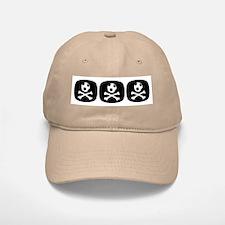 Bloody Football Hooligan Baseball Baseball Cap, White or Khaki