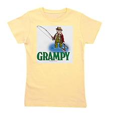 Grampy fly fishing CP Girl's Tee