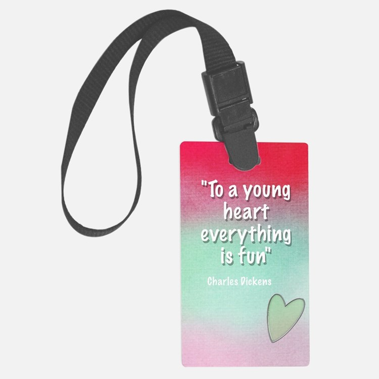 young-heart-card Luggage Tag