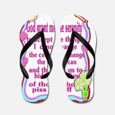 sick serenity Flip Flops