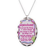 sick serenity Necklace Oval Charm
