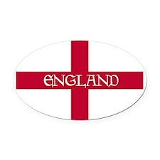 PC English Flag - England Goudy Me Oval Car Magnet