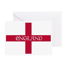 PC English Flag - England Goudy Med Greeting Card