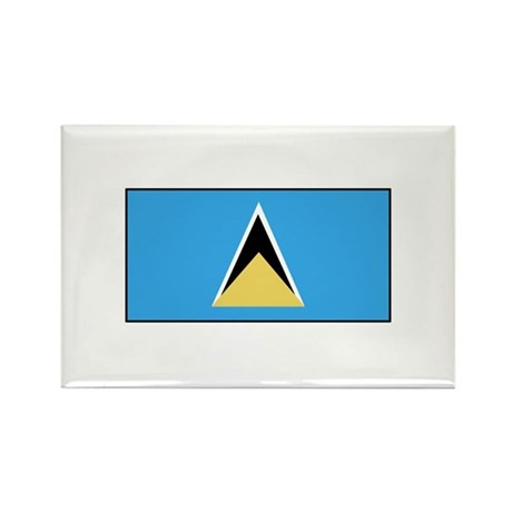 St. Lucia Flag Rectangle Magnet