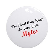 In Love with Myles Ornament (Round)