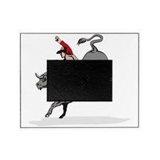 Rodeo cowboy bull riding Picture Frame