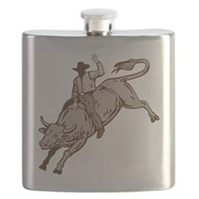 Rodeo cowboy bull riding Flask