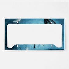 bat_blue_miniposter_12x18_ful License Plate Holder