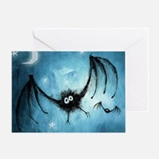 bat_blue_miniposter_12x18_fullbleed Greeting Card