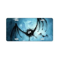 bat_blue_miniposter_12x18_f Aluminum License Plate