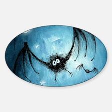 bat_blue_miniposter_12x18_fullbleed Sticker (Oval)