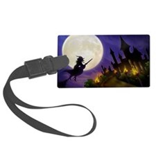 flyingwitchmoon2_miniposter_12x1 Luggage Tag