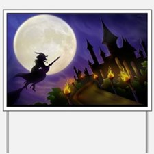 flyingwitchmoon2_miniposter_12x18_fullbl Yard Sign