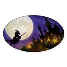 flyingwitchmoon2_miniposter_12x18_f Decal