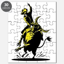 Rodeo cowboy bull riding Puzzle