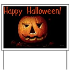 happyhalloween_pumpkin2_miniposter_12x18 Yard Sign