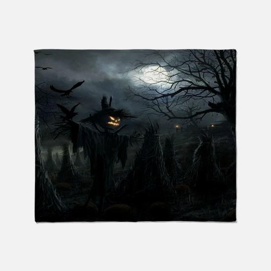 midnightscarecrow_miniposter_12x18_f Throw Blanket