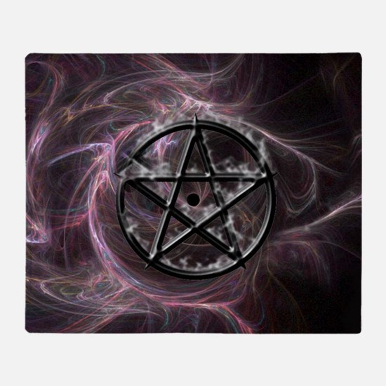 pentagram3_miniposter_12x18_fullblee Throw Blanket