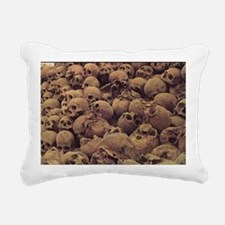 pileofskulls_miniposter_ Rectangular Canvas Pillow