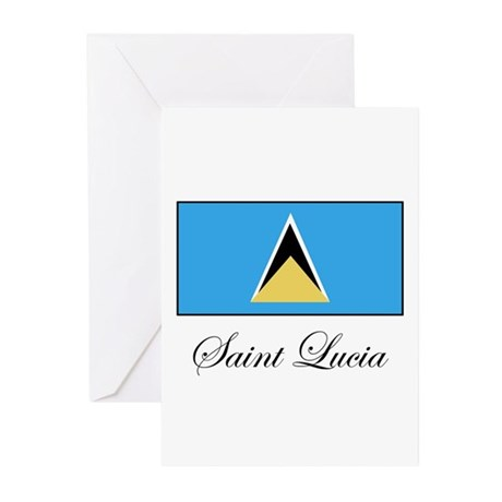Saint Lucia - Flag Greeting Cards (Pk of 10)