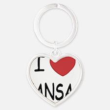 KANSAS Heart Keychain