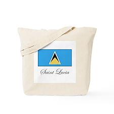 Saint Lucia - Flag Tote Bag