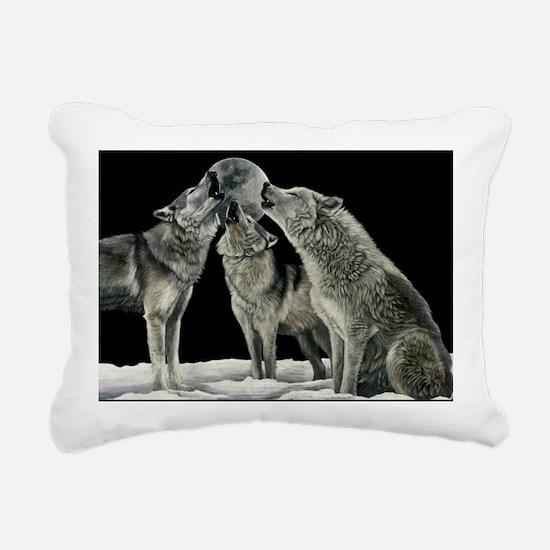 wolfsong_miniposter_12x1 Rectangular Canvas Pillow