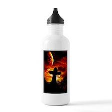 cemetarycrossredvert_m Water Bottle