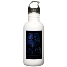 bluewolvesvert_mini po Water Bottle