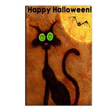 happyhalloweenscardycat_m Postcards (Package of 8)