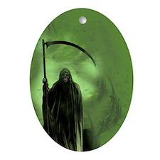 deathgreen_mini poster_12x18-fullble Oval Ornament