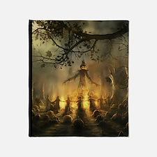 scarecrowgatheringvert_mini poster_1 Throw Blanket