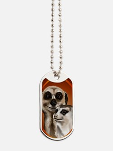 Meerkat PosterP Dog Tags