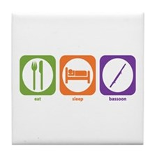 Eat Sleep Bassoon Tile Coaster