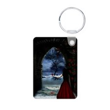 womanreddress_mini poster_ Keychains