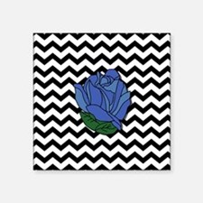 "Blue Rose Square Sticker 3"" x 3"""