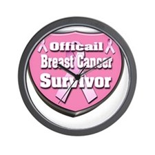 Officail breast Cancer Survivor Badge 3 Wall Clock