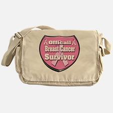 Officail breast Cancer Survivor Badg Messenger Bag