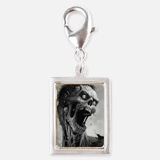 screamingzombievert_mini pos Silver Portrait Charm