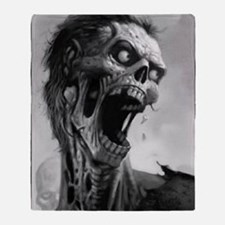 screamingzombievert_mini poster_12x1 Throw Blanket