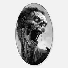 screamingzombievert_mini poster_12x Decal