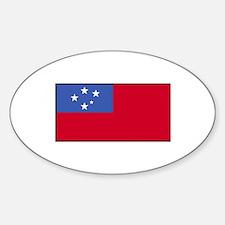 Samoa Flag Oval Decal