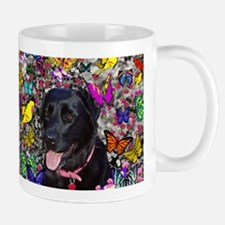 Abby Black Lab Butterflies Mug