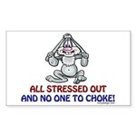 All Stressed Out! Rectangle Sticker