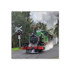 "Puffing Billy at Selby Square Sticker 3"" x 3"""