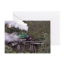 Puffing Billy on the Trestle Bridge Greeting Card