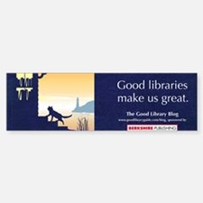 Good Library Mug Bumper Bumper Sticker