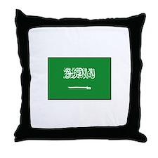 Saudi Arabian Flag Throw Pillow